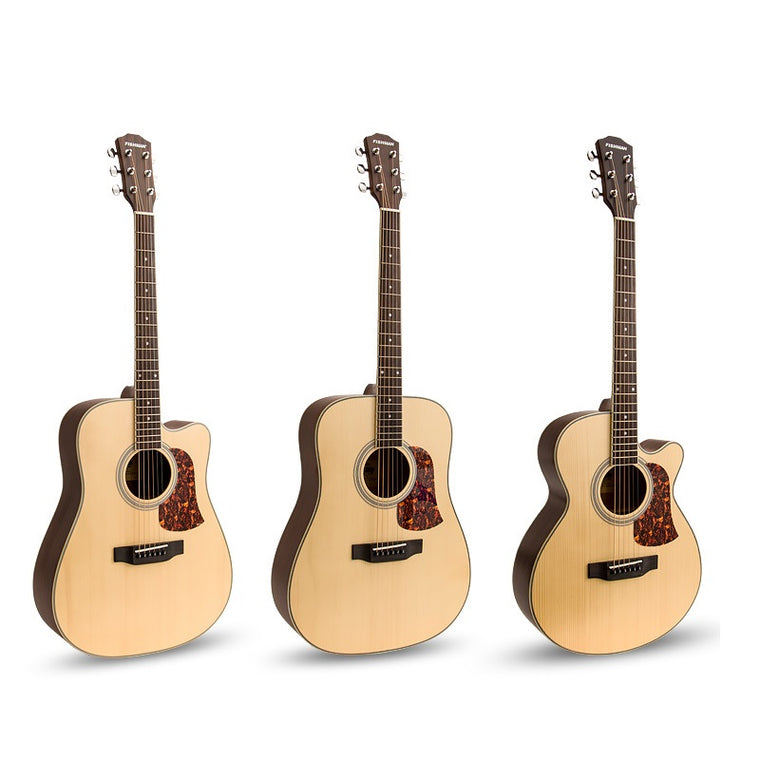Veneer acoustic guitar,matte 41 inch type A folk guitar,acoustic guitar sound full 41 inches,Engleman Spruce veneer guitar