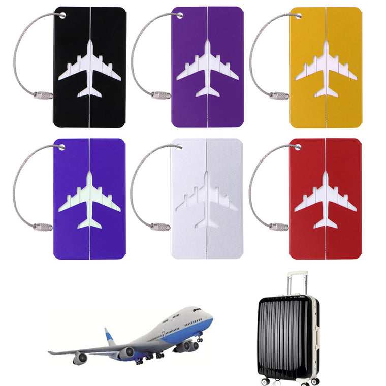 Aluminium Baggage Travel Luggage Tag Suitcase Identity Address Name Labels New