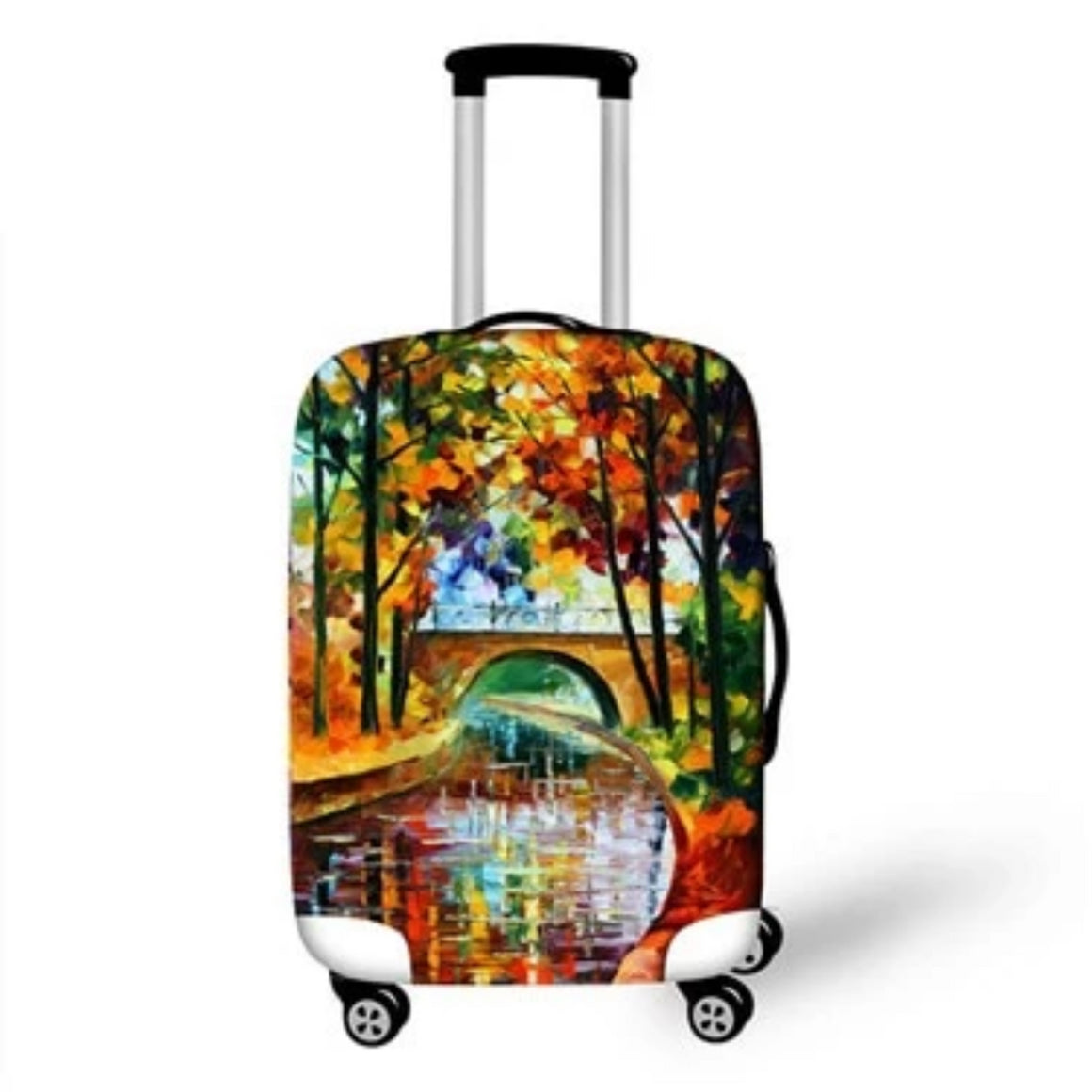 3D Oil Painting Travel Luggage Protective Covers Women Men Dust Proof valise bagages roulettes 70cm Elatic Girls Suitcase Cover