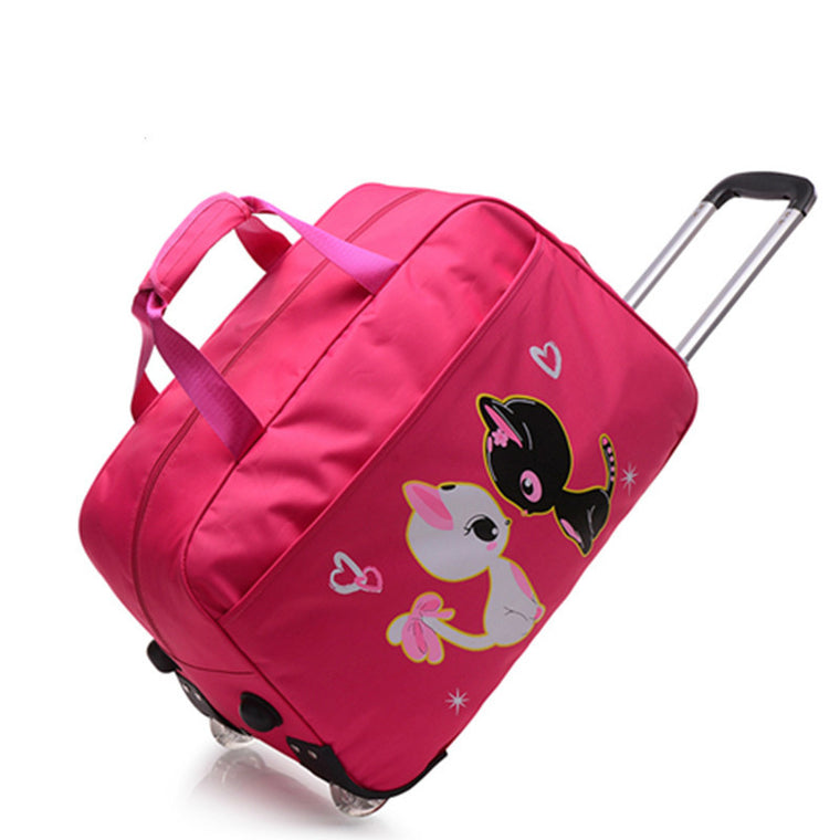 Travel bag trolley bag luggage bag large capacity short distance travel folding bag and suitcase portable leisure lovely