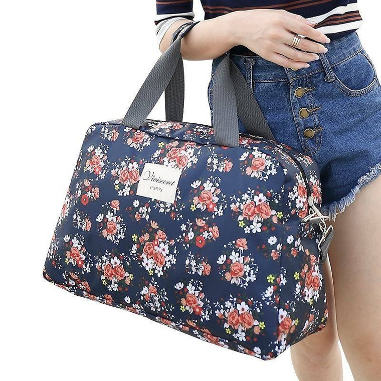 Waterproof Polyester Women Travel Bag Hand Luggage Bag Large Capacity Travel Handbag Fashion Shoulder Bag