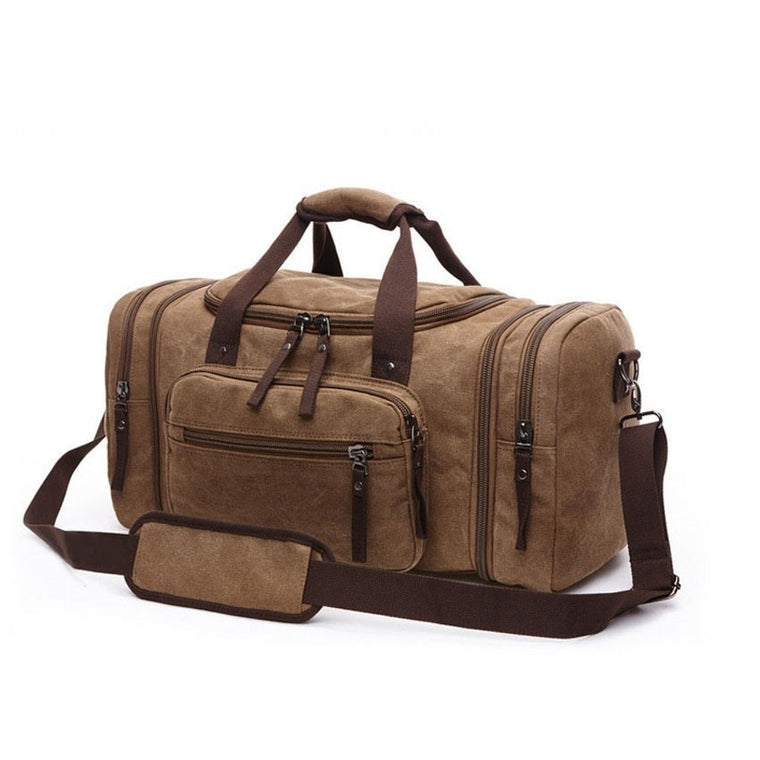 Vintage Canvas Men Travel Bags Multifunctional Luggage Leisure Large Capacity Mountaineer Travel Bag Casual Trip Shoulder Bags