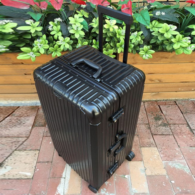 "Oversized 26""30 Inch Aluminum frame luggage suitcase Multi Wheel carry-on cabin travel trolley case rolling luggage Bag wheels"