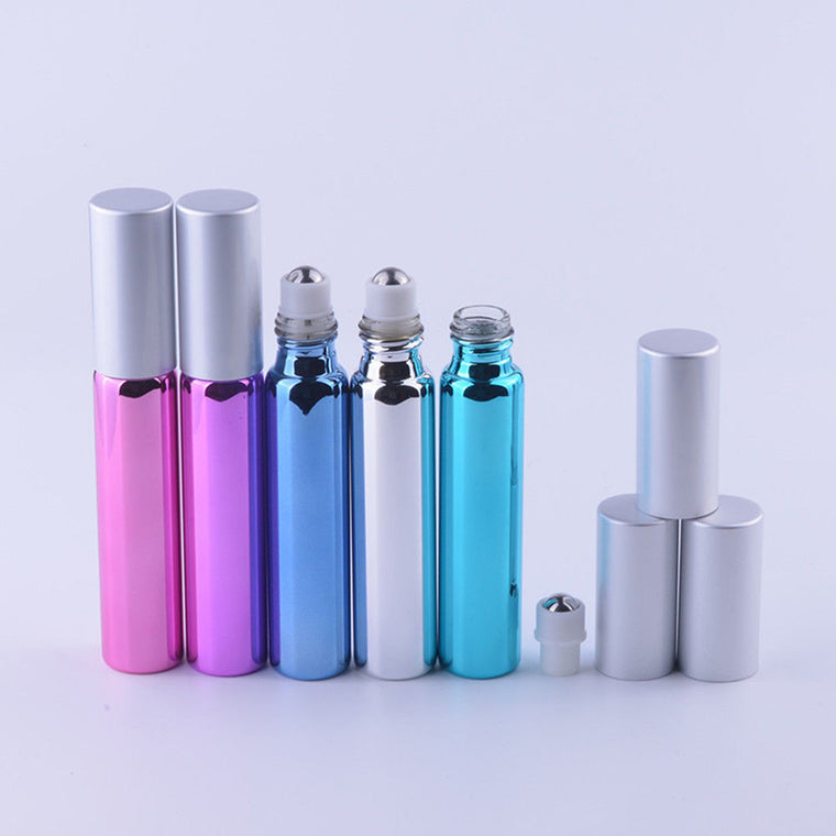 10ML Stainless Steel Metal Roll on Bottles Essential Oil Perfume Roller Hot for Travel
