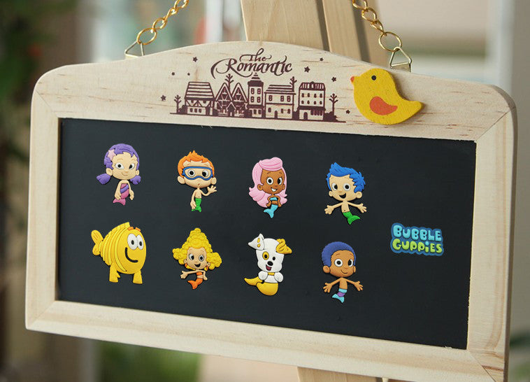 Novelty 9pcsCute Bubble Guppies Blackboard Magnetic Stickers/PVC Magnets,Office School Supplies Travel Accessories Kids Gifts