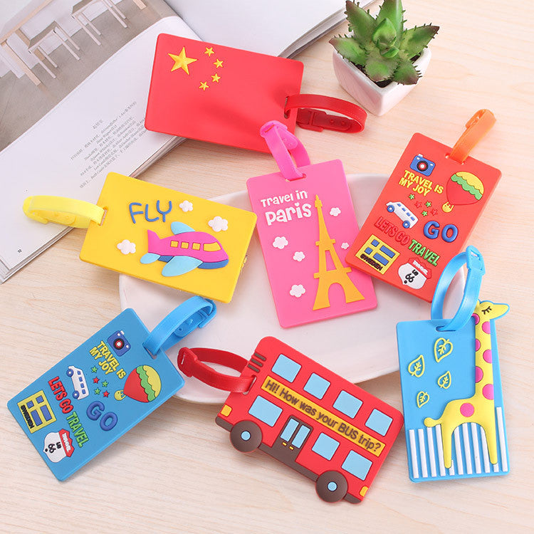 Silicon Boarding Luggage Tags Lovely Suitcase Luggage Straps Accessories Custom Wholesale