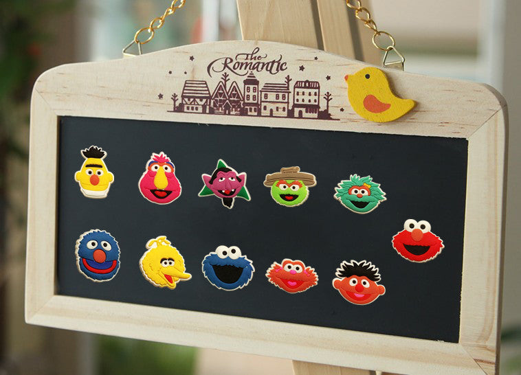 11PCS/Set Lovely Sesame Street Cartoon PVC Fridge Magnets Kids Gifts Party Favor Home Decorate Fashion Travel Accessories
