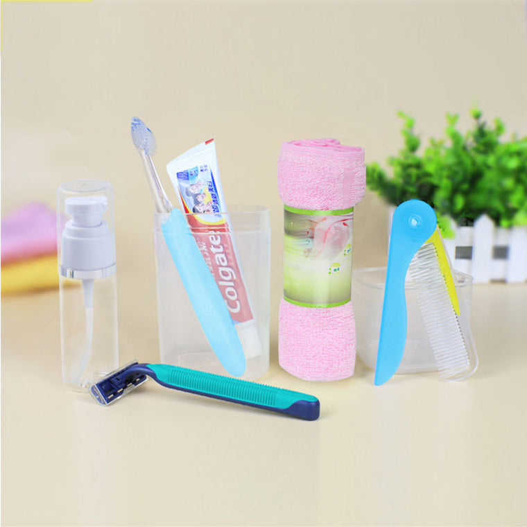 Portable Travel Wash Cups Toothpaste Toothbrush Cup Towel Holder Collection Box Toiletries PP Storage Box Portable Suit