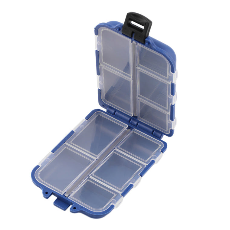 10 Compartments Storage Case Fly Fishing Lure Spoon Hook Bait Tackle Case Box Fishing Accessories Tools Wholesale top quality