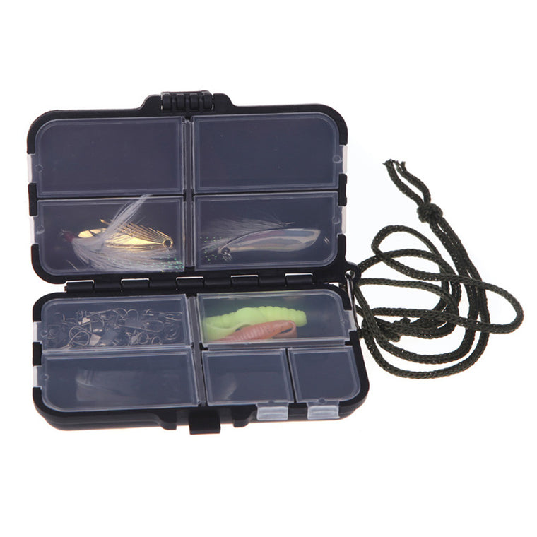 1 Pcs Hot Fly Fishing Box Fishing Tackle Box Spinner Bait Minnow Popper 2 Patterns Fishing Accessories
