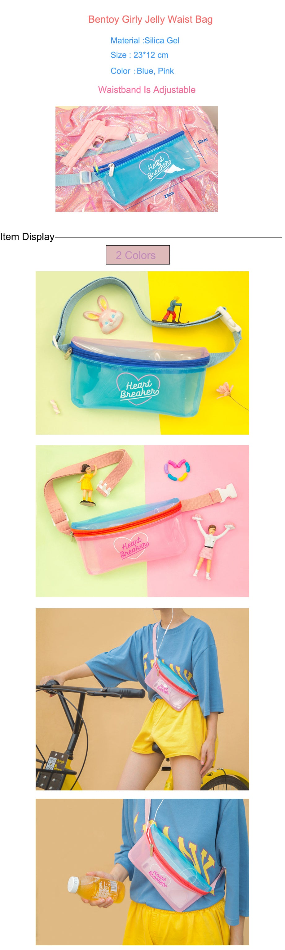 Bentoy Jelly Waterproof Women Waist Pack Crossbody Bag For Women Fashion Patchwork Chest Bag Causal Strap Girls Shoulder Bag
