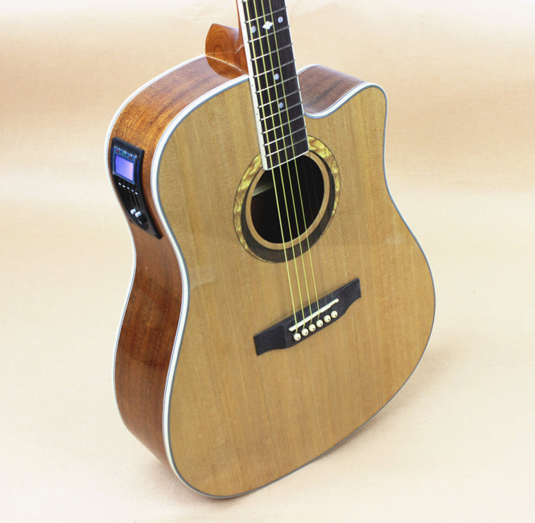 Electro Acoustic Electric Steel-StringFlattop Guitar Dreadnought 41 Inch Guitarra 6 String Picea Mahogany Tuner Cutaway