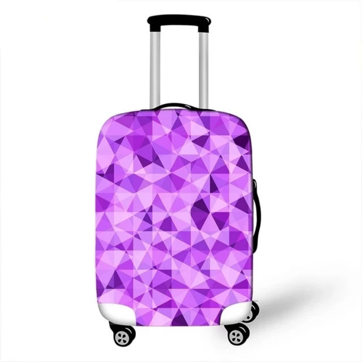 Geometric Travel Bag Cover Patchwork Suitcase Protective Cover Triangle Shape Luggage Case Protector Portable Travel Accessories