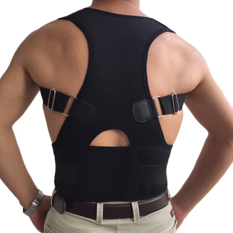 Belly Sweat Belt Posture Brace Shoulder Back Support Back Posture Corrector Men Shoulder Posture Correction B002