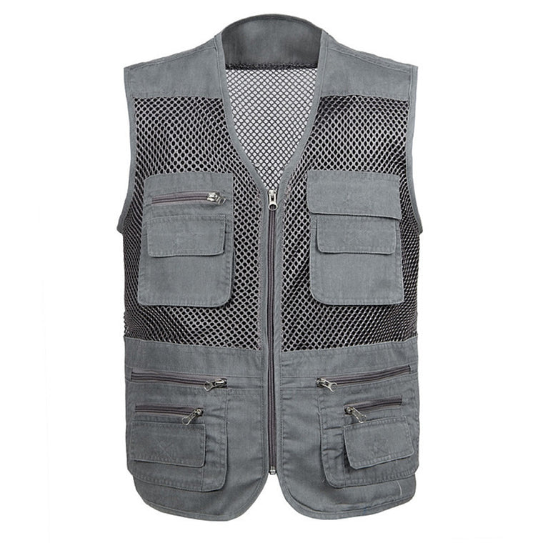 Outdoor Hiking Vest XL-4XL Cotton Plus Size Sleeveless Fishing Jacket Tactical Vest Military Quick-dry Breathable Chaqueta Pesca