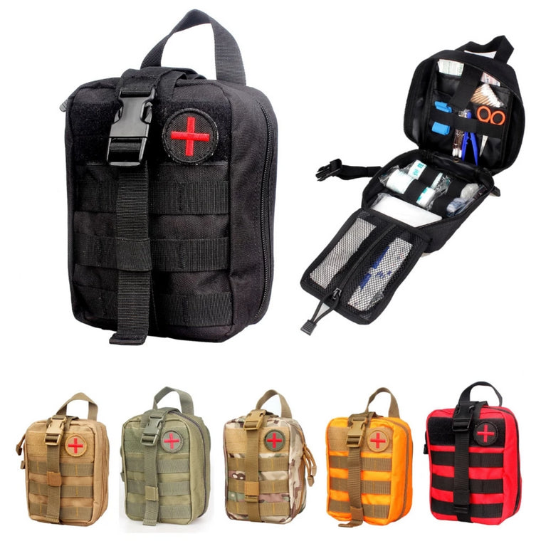 Vpanda Nylon First Aid Bag Tactical Molle Medical Pouch EMT Emergency EDC Rip-Away Survival IFAK Utility Car First Aid Bag
