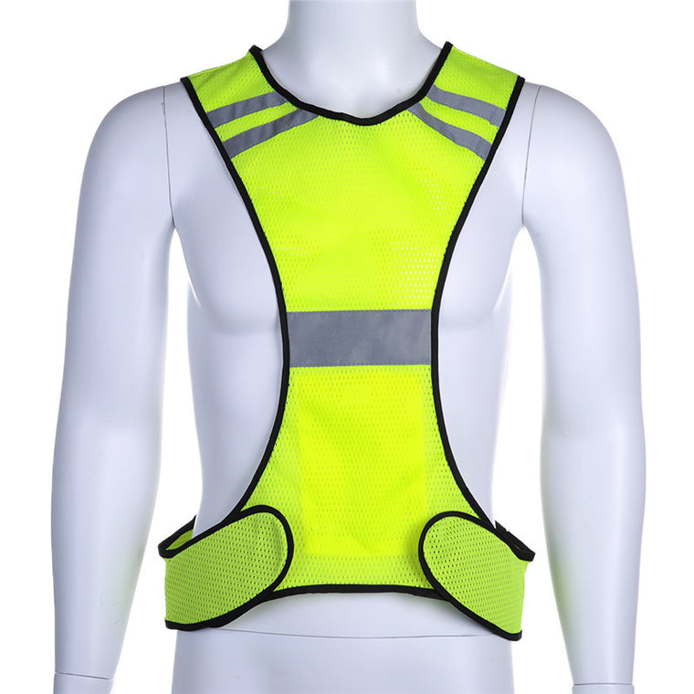 Reflective Cycling Bike Bicycle Hiking Vest Sleeveless Night Running Security Riding Outdoor Protection
