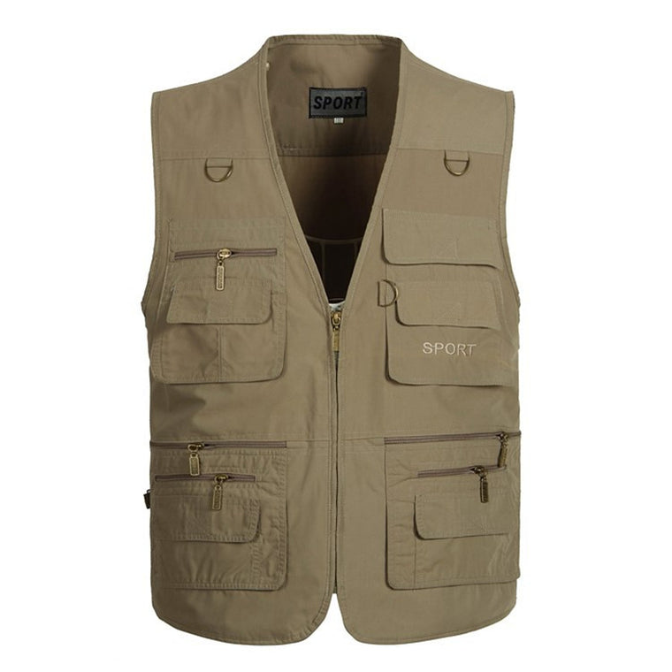 Tactical Vest XL-5XL Men Military Vest Photography Cameraman Fishing Vest Director Reporter Hunting Molle Vest Colete Airsoft