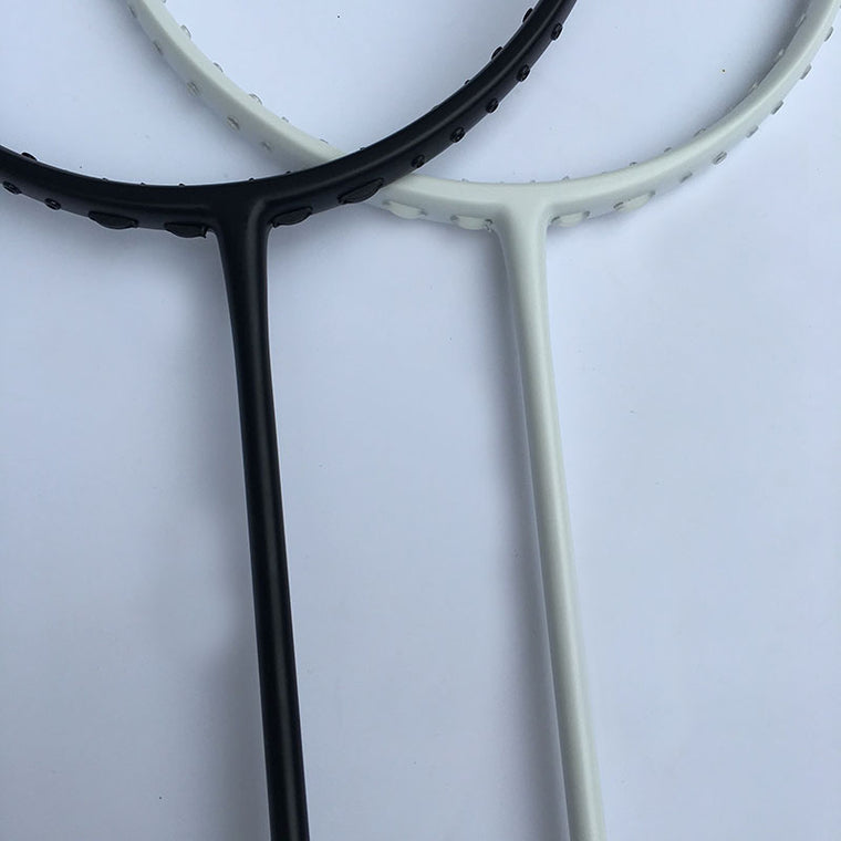 NEW Customs racket two face D 10 Badminton Racket 100% carbon black/white badminton racquet Traning racket