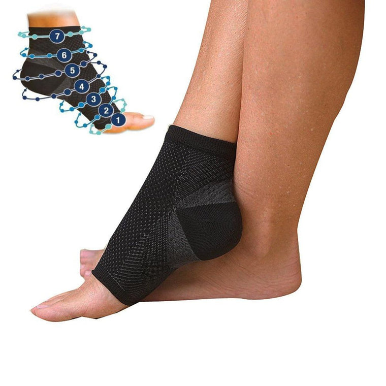 Men Women Foot angel anti fatigue compression foot sleeve Running Cycle Basketball Sports Socks Outdoor Men's Ankle Brace Sock