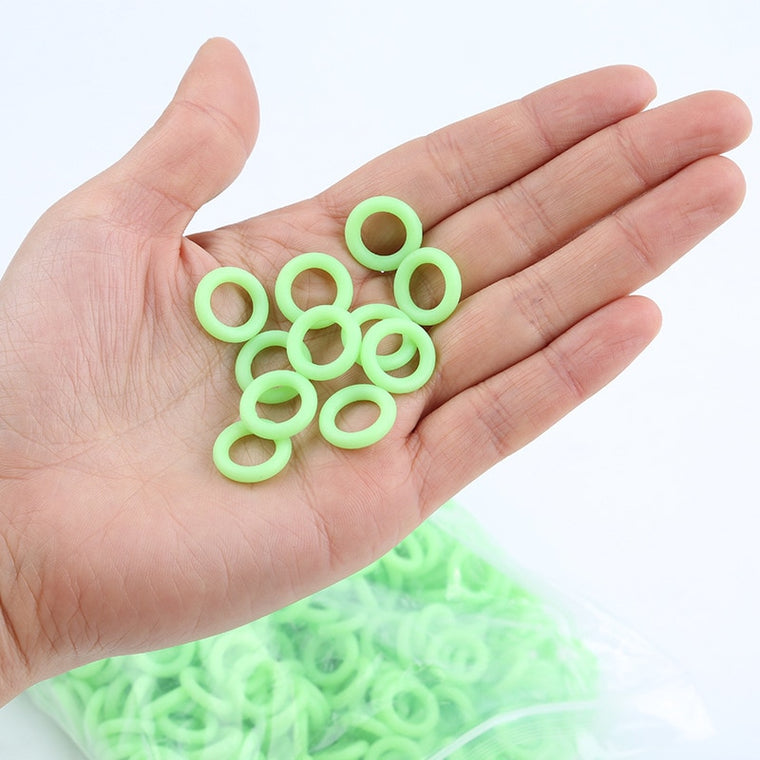 50Pcs/Pack Green Color Camping Nail Night Vision Luminous Ring Round Multi-functional Tents Accessories