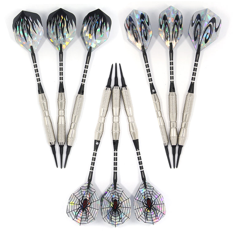9PCS  Steel Tip Electronic Darts 18g Nice Harrow Point Wing Needle Barrel