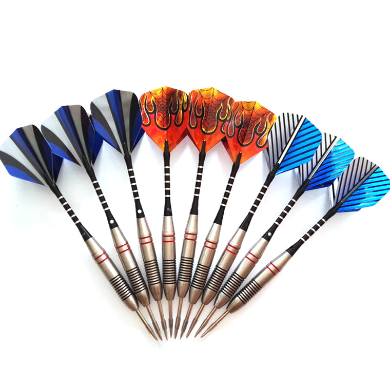 9 pcs of Steel Tip Darts Professional Stainless Barrel with Strong Aluminium Alu Alloy Dart Shafts Stem and Flights - Darts Set