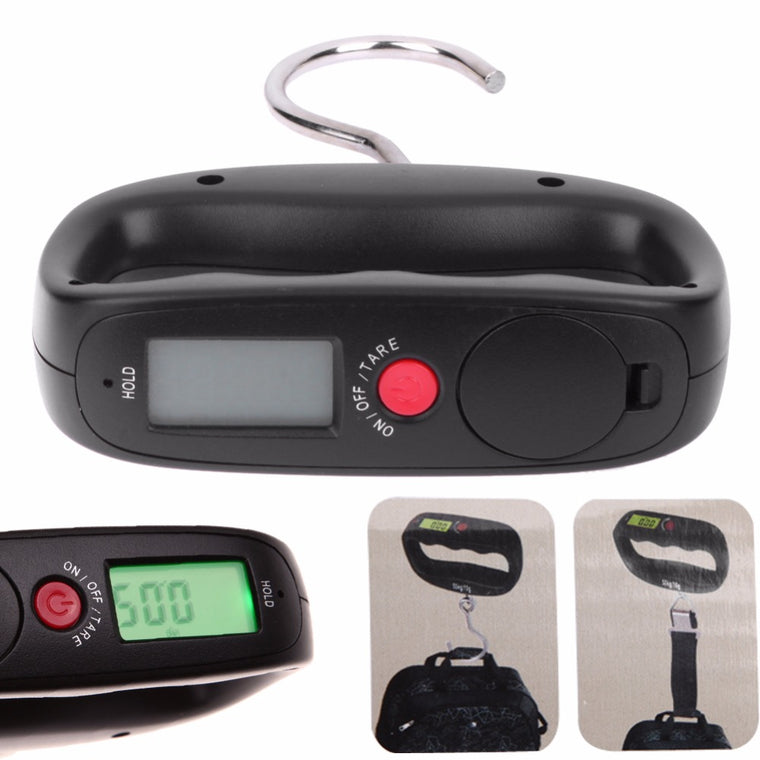 50kg/10g LCD Digital Pocket Scale Electronic Hand Held Hook Luggage Hanging Scale Backlight Balance Weighing