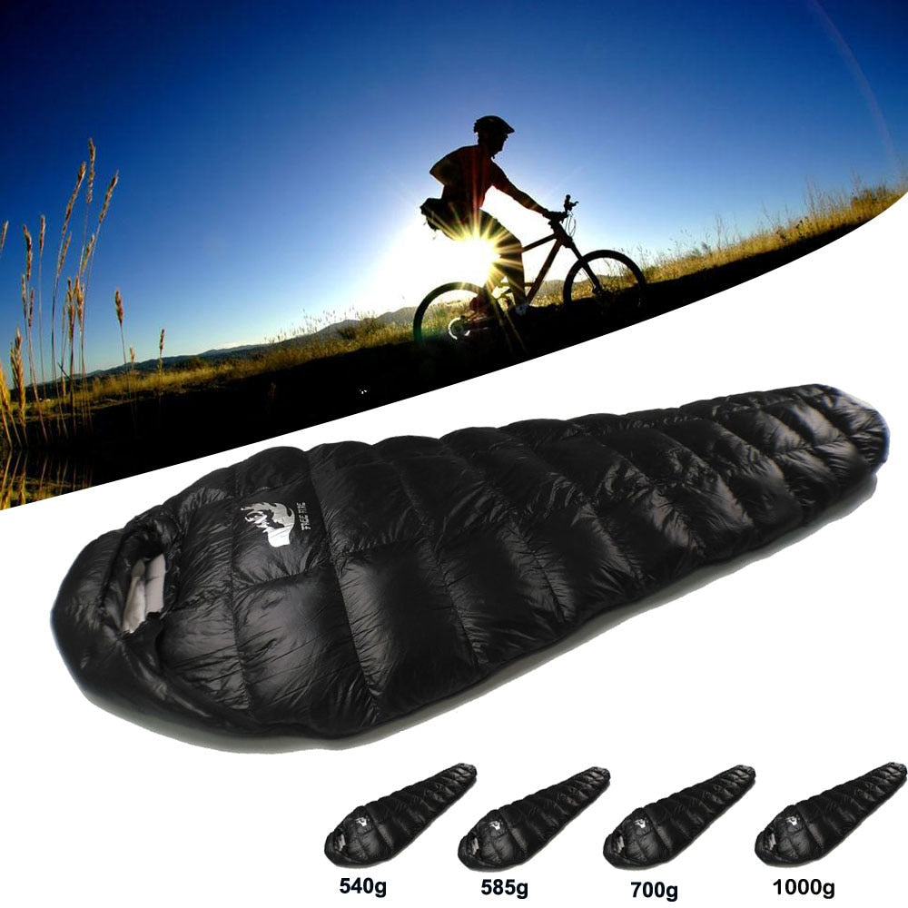 Outdoor Camping Sleeping Bag, Winter Down Sleeping Bag Ultralight, Ultralight Sleeping Bag Winter for Camping Cold Temperature