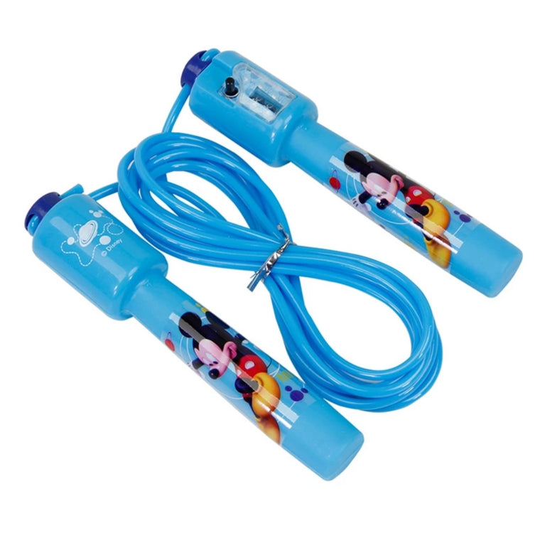 DISNEY Mickey mouse Electronic Counting Ship Jump Rope Kid Cartoon Fitness Exercise Workout Gym Adjustable Skipping For Children