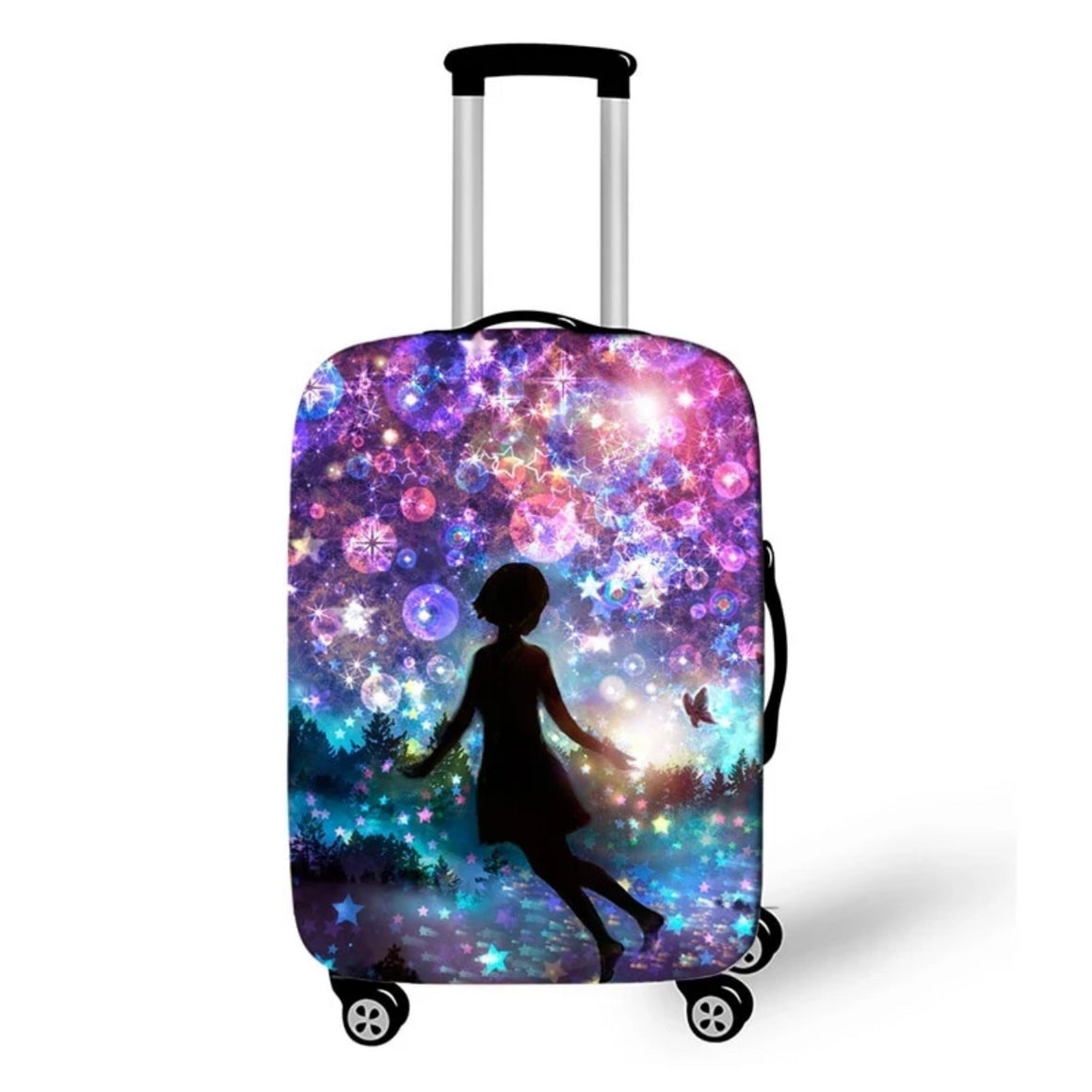 Girls Luggage Protective Covers Cartoon Silhouette Travel Suitcase Protector For Women Girls Suitcase Accessories Bagage Cover