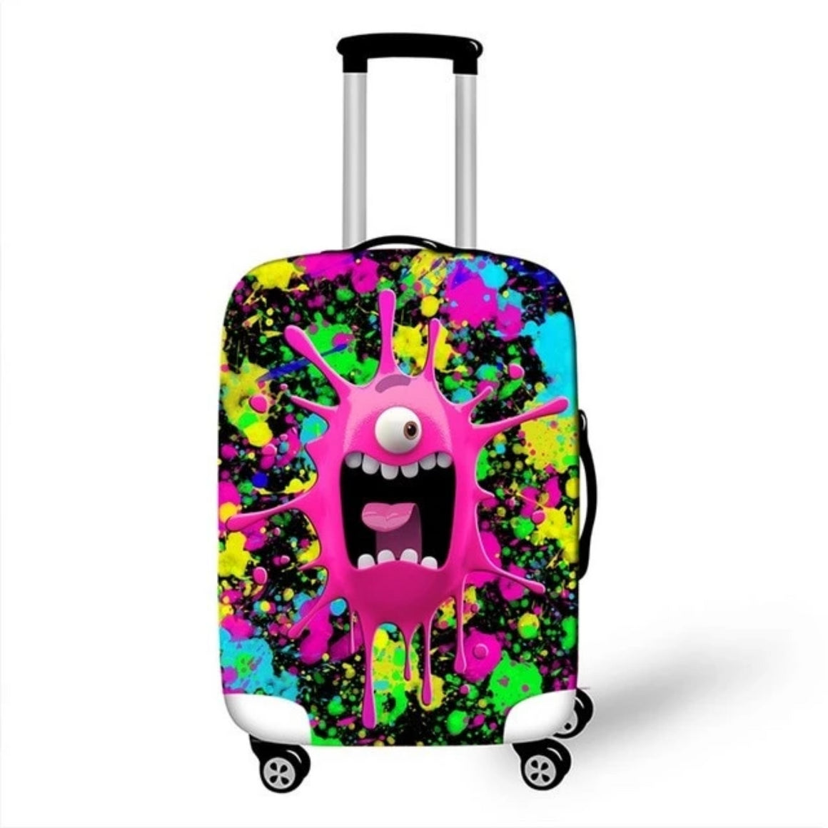 3D Cartoon Travel Luggage Protective Covers Women Men Colorful valise bagages roulettes 70cm Girls Suitcase Travel Accessories