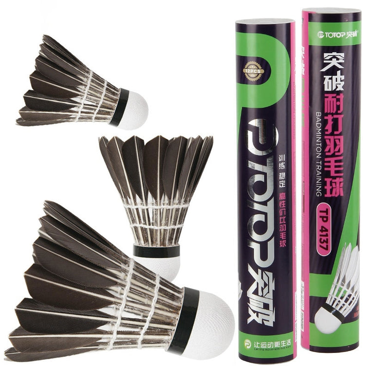 12 Pc Set Goose Broad Feather Badminton Shuttlecock Badminton Ball