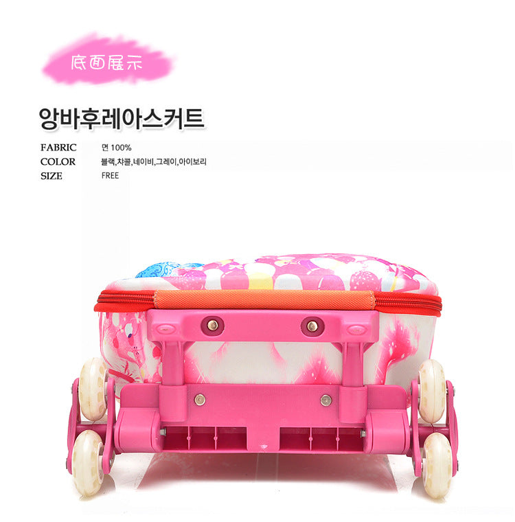 3D stereo Kids trolley Bag for school Children trolley Bag on wheels Kids Rolling Suitcase for gril boy Student Rolling Bags