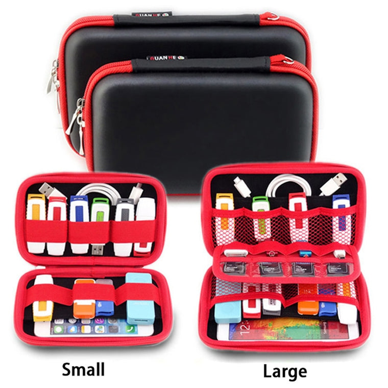 New Portable Waterproof Travel Digital Products Storage Bag for HDD,Phone,U Disk,SD Card,Travel Organizer Bag,Travel Accessories