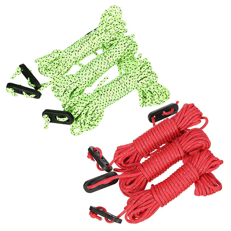 4pcsx4M Multifunction Tent Rope Reflective At Night Tent Accessories Outdoor Sports Camping Hiking Durable Polypropylene Rope