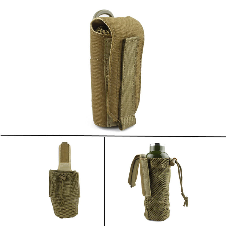 New Molle Tactical Military Travel Water Bottle Pouch Carry Bag Case Outdoor Hunting Hiking Kettle Pouch