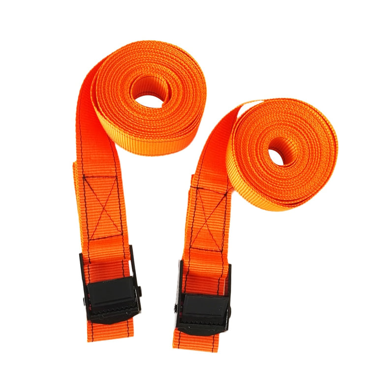 1 Pair Kayak Surfboard Roof Rack Tie Down Straps with Metal Cam Buckle 5M Luggage SUP Heavy Duty Nylon Webbing Tie Down Straps