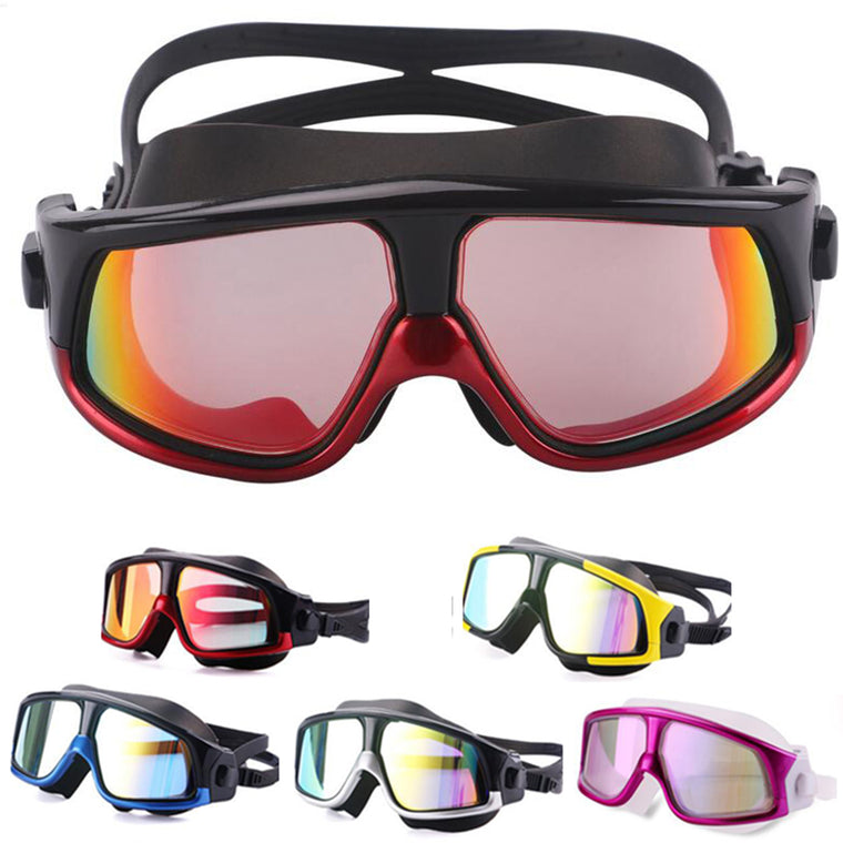 Comfortable Silicone Large Frame Swim Glasses Swimming Goggles Anti-Fog UV Men Women Swim Mask Waterproof