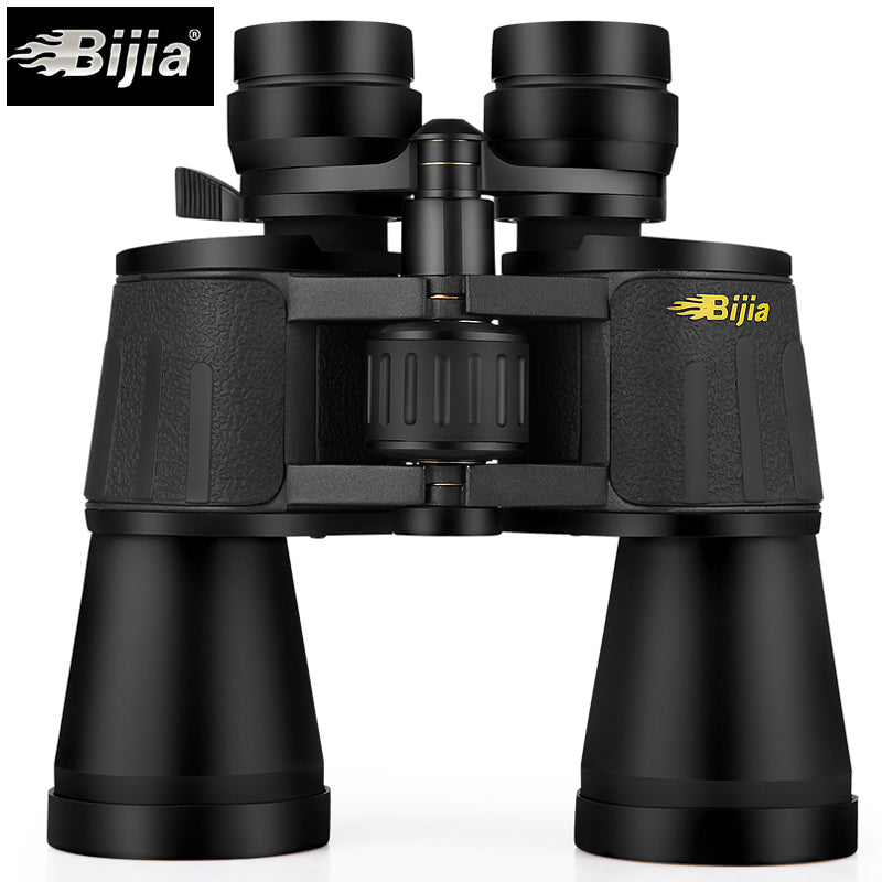 BIJIA 10-120X80 professional zoom optical hunting binoculars wide angle camping telescope with tripod interface