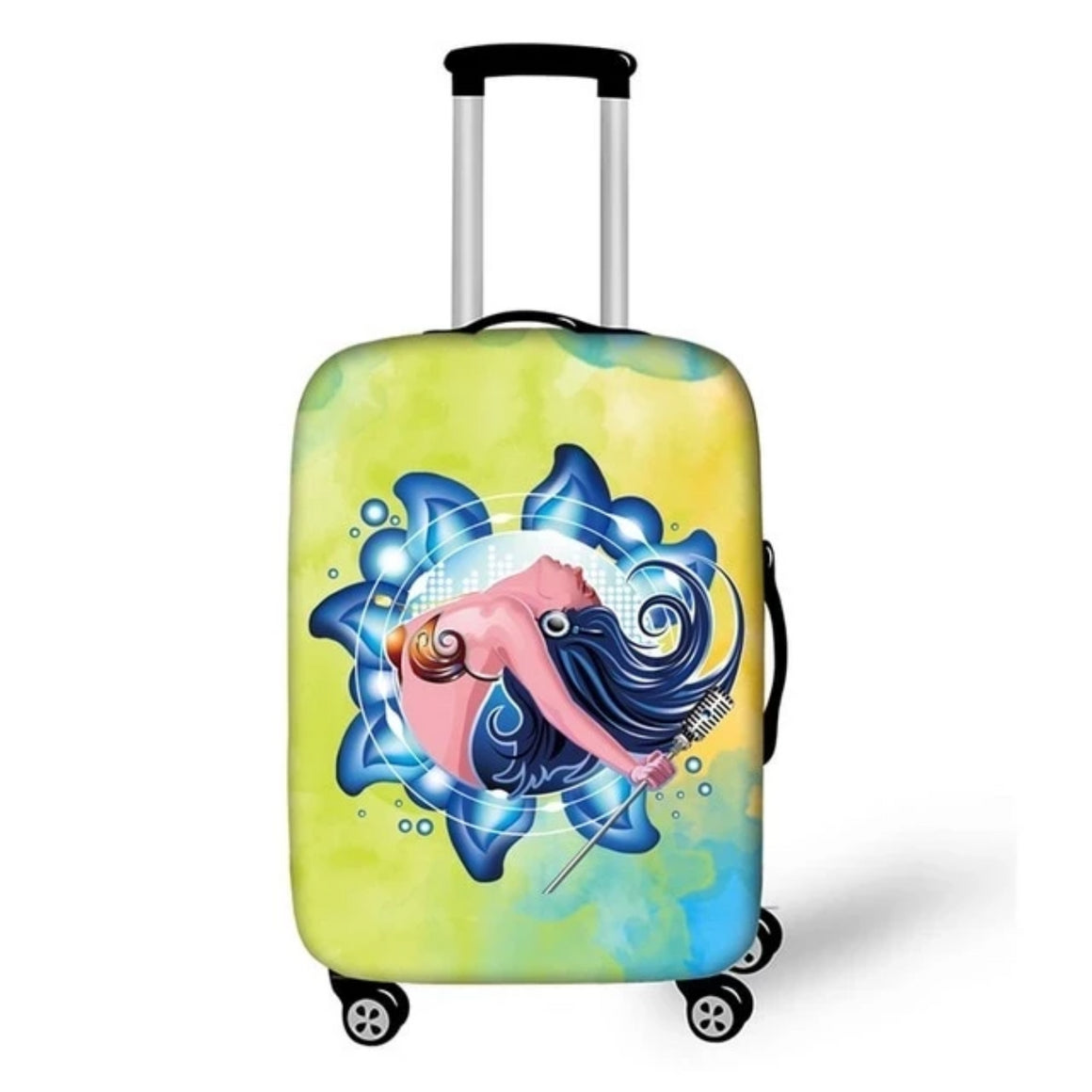 Fantasy Mermaid Travel Luggage Protective Covers For Girls bagages roulettes Lovely Piggy Bunny Suitcase Cover Travel Accessorie