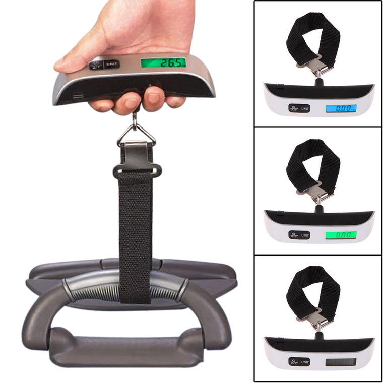 50kg Digital Luggage Scale Balance Weighing Scales for Suitcase Travel Luggage Bag Hanging Backlight