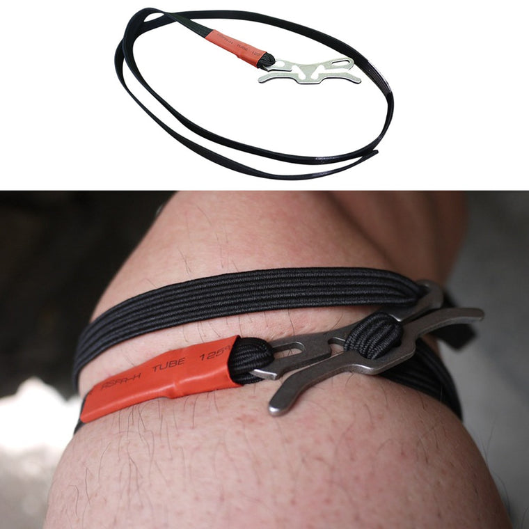 High quality First Aid Medical Tourniquet Outdoor Durable Combat Application Emergency Tool Survival Elastic rope Black 93cm