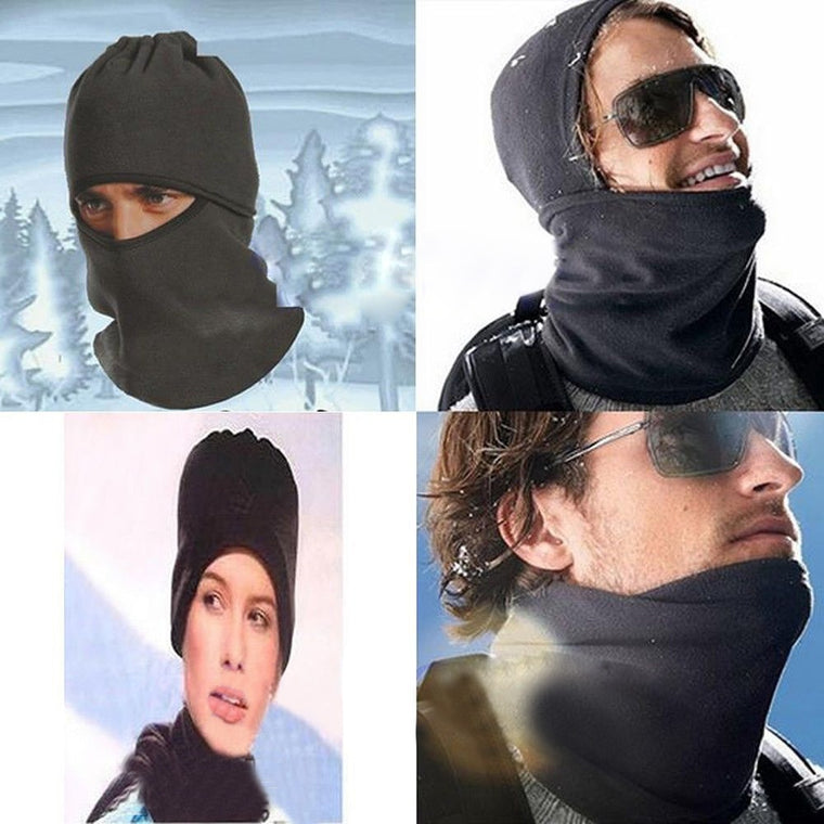 Unisex Mask Cover Thermal Fleece Balaclava Neck Winter Ski Full Face Mask Cover Cap For Outdoor Sport CS Windproof Hat