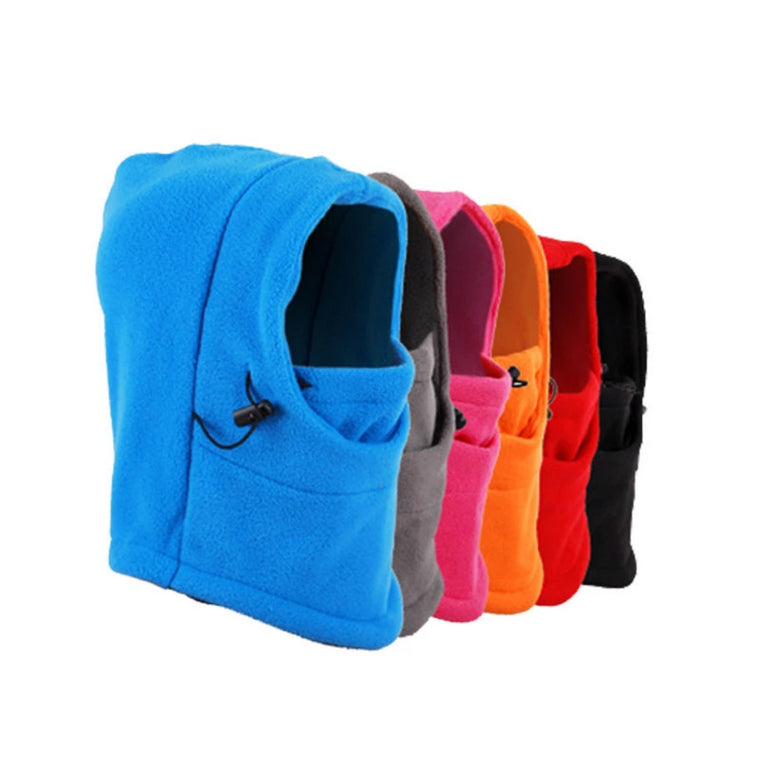 Winter Thermal Warm Fleece Balaclava Snood Outdoor Sports Hiking Biking Motorcycle Ski Scarf Full Face Mask Hat Caps Neck Warmer