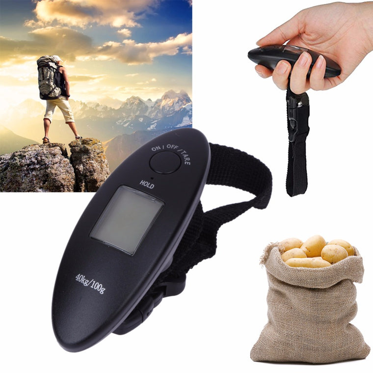 40kg/100g Portable Weighing Scales for Suitcase Travel Bag Mini Electronic Digital Scale LCD Luggage Scale