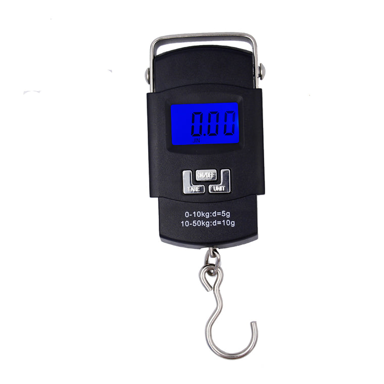 Pocket Portable Hanging Scale  50kg/10g  LCD display Digital Electronic Hand Held Hook Luggage  Balance Weighing with Backlight