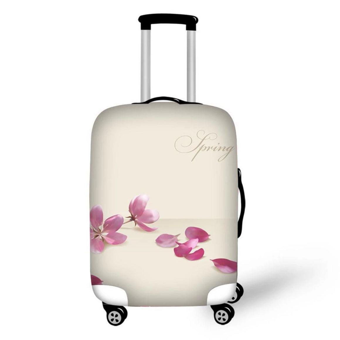 Creative Waterproof Luggage Covers Pink Flowers Print Elastic Dustproof Suitcase Cover 18-30 Inch Travel Case Accessories