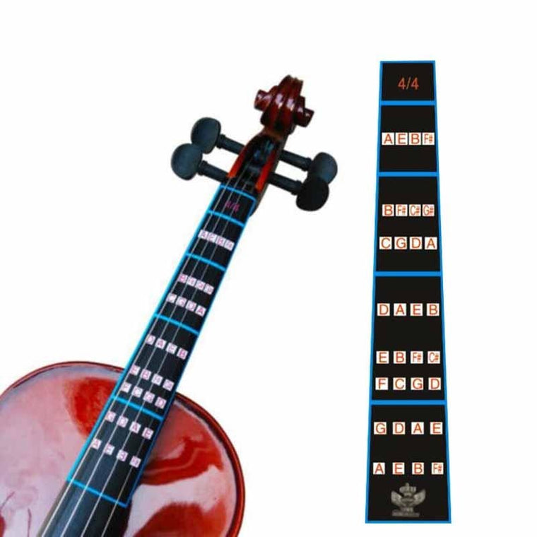 1 Pcs Violin 4/4 Practice Fiddle Finger Guide Sticker Fretboard Indicator Position Marker