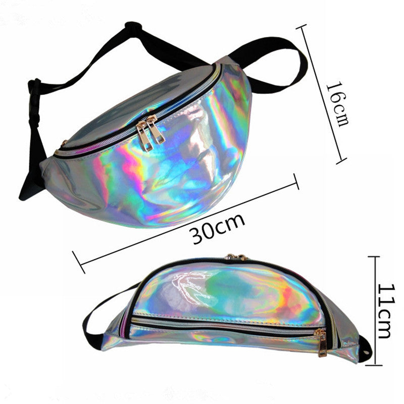 High Quality Ride Travel Fashion Laser Transparent  Waist Bag Bananka Travel Fanny Pack Women Walking Mountaineering Belly Bag